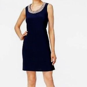 R & M Richards Sleeveless Sheath Dress